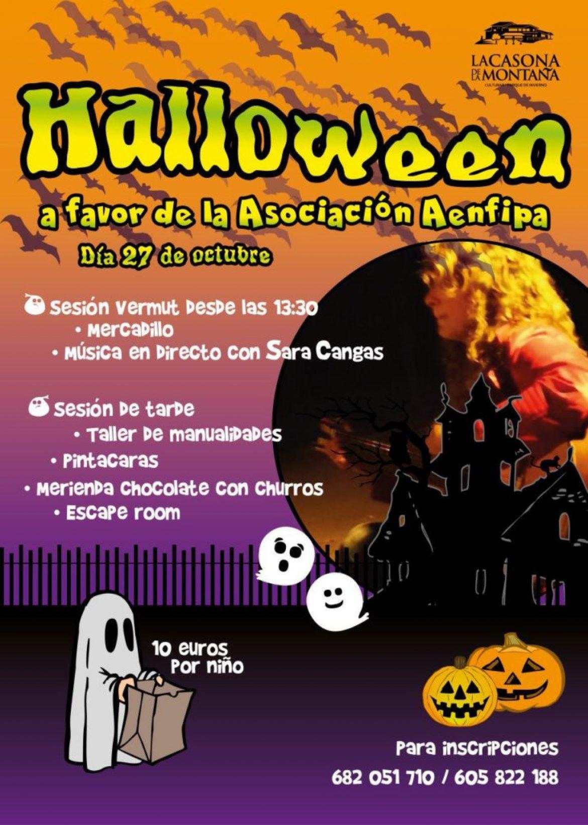 Sábado 27 de Octubre Hallowen en la Casona de la Montaña