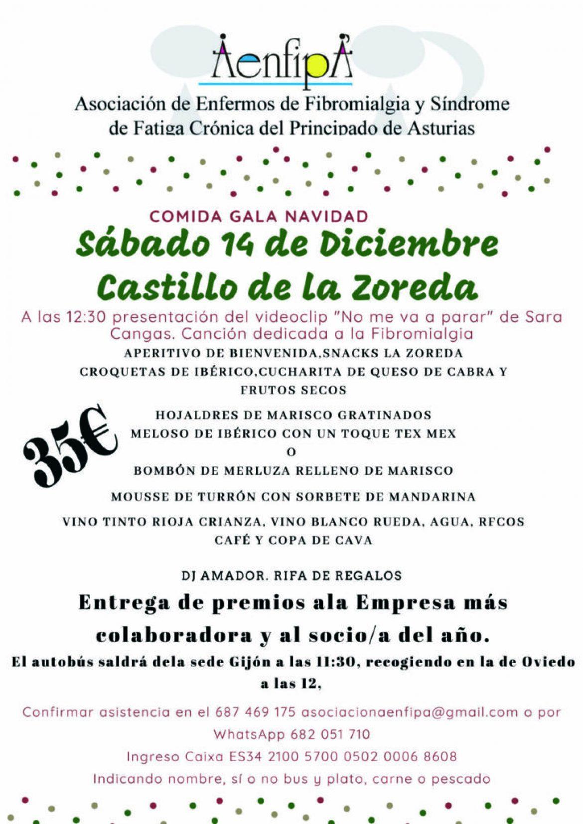 Gala Comida de Navidad , 14 de Diciembre