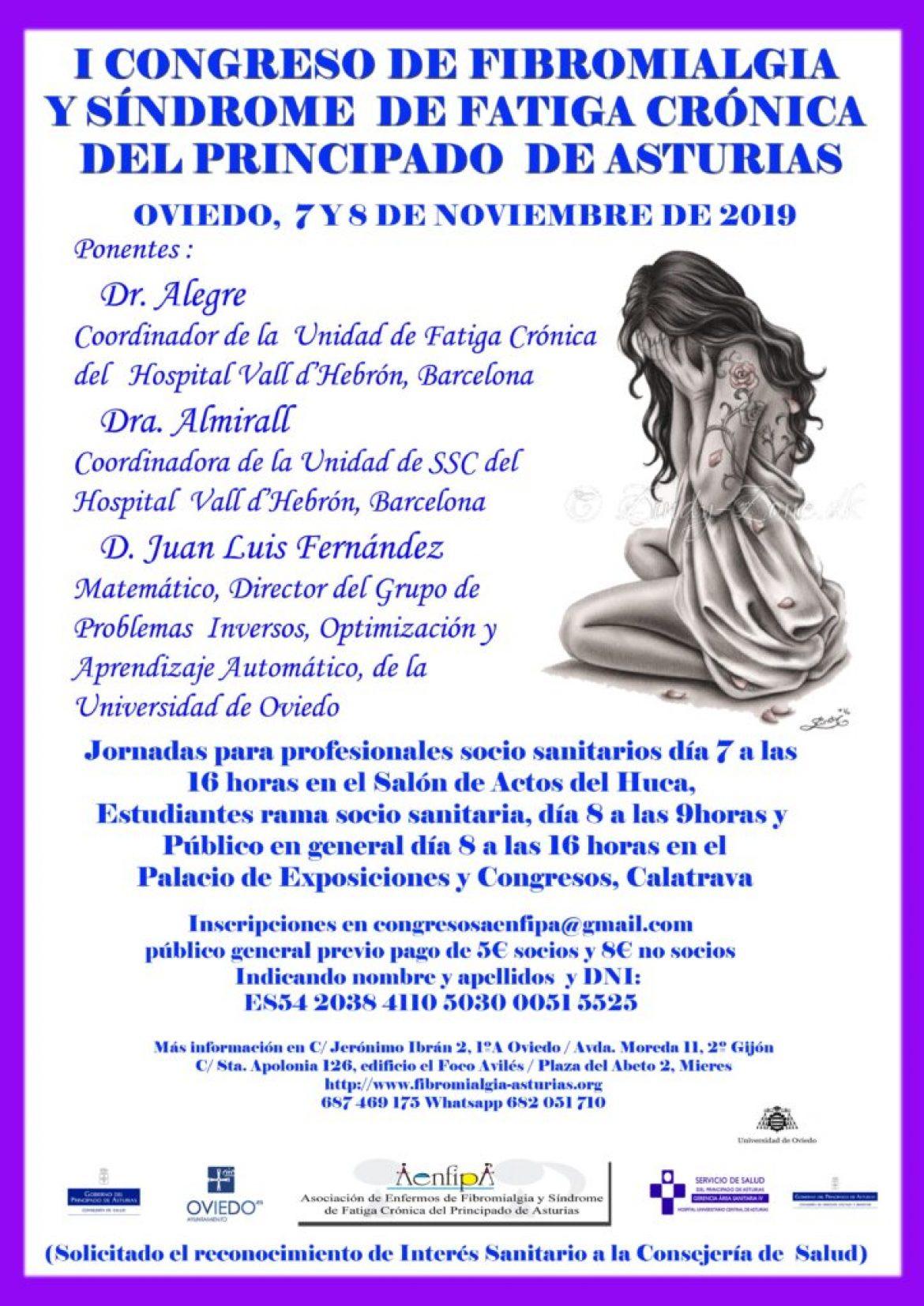 I Congreso de Fibromialgia y Síndrome de Fatiga Crónica 7 y 8 de Noviembre