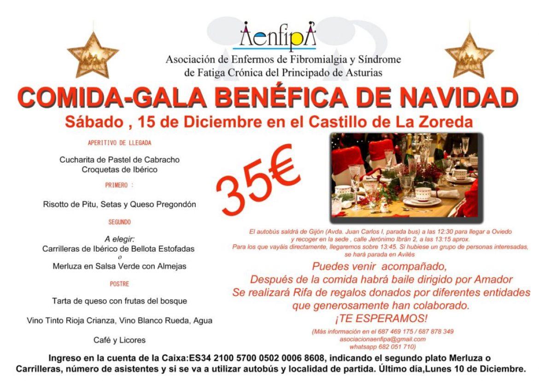 Comida Gala de Navidad, 15 de Diciembre, Castillo de la Zoreda