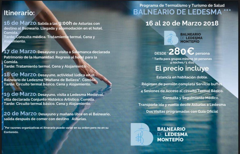 Viaje a Balneario de Ledesma con el Montepío