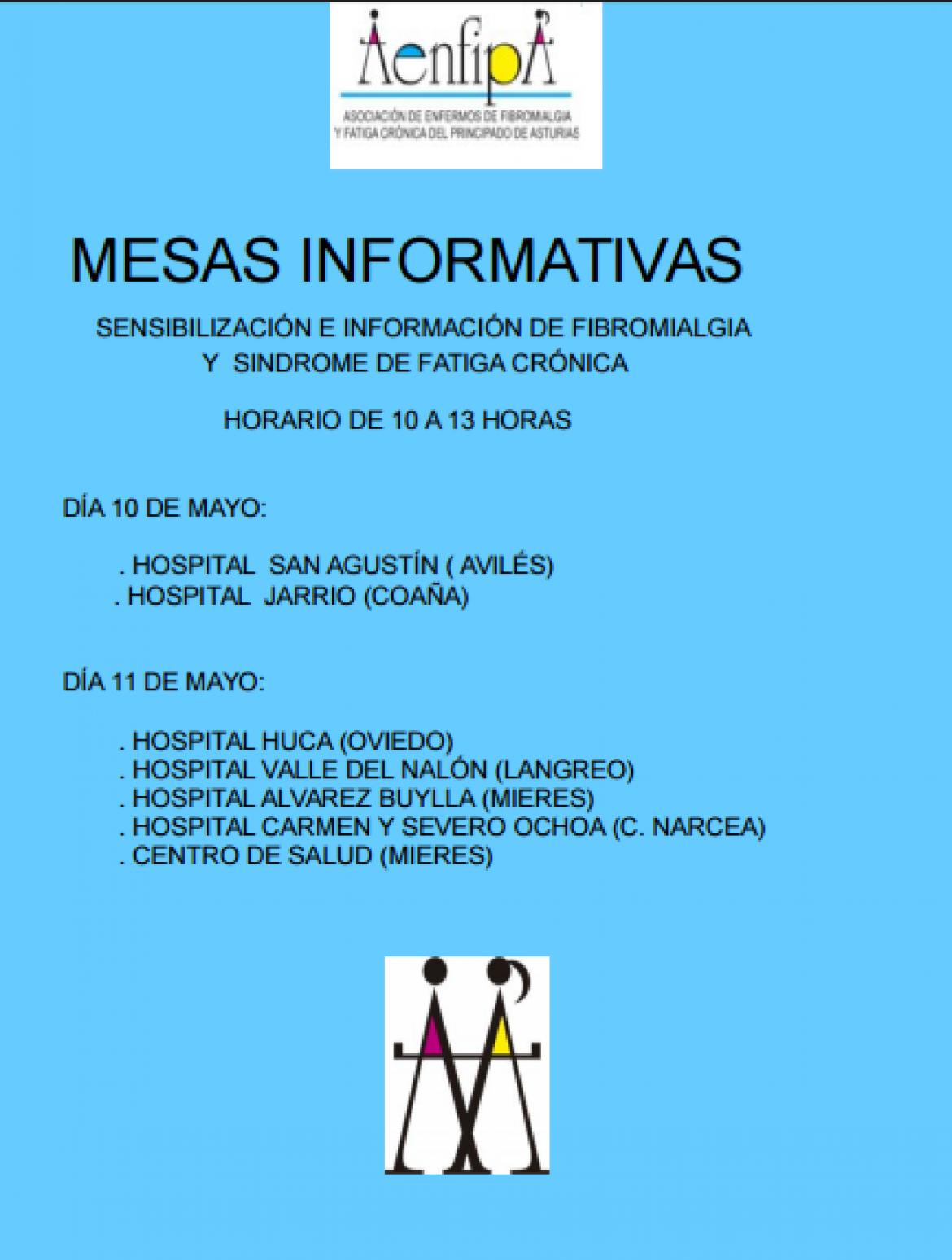 Semana de la Fibromialgia, información de mesas informativas y actos