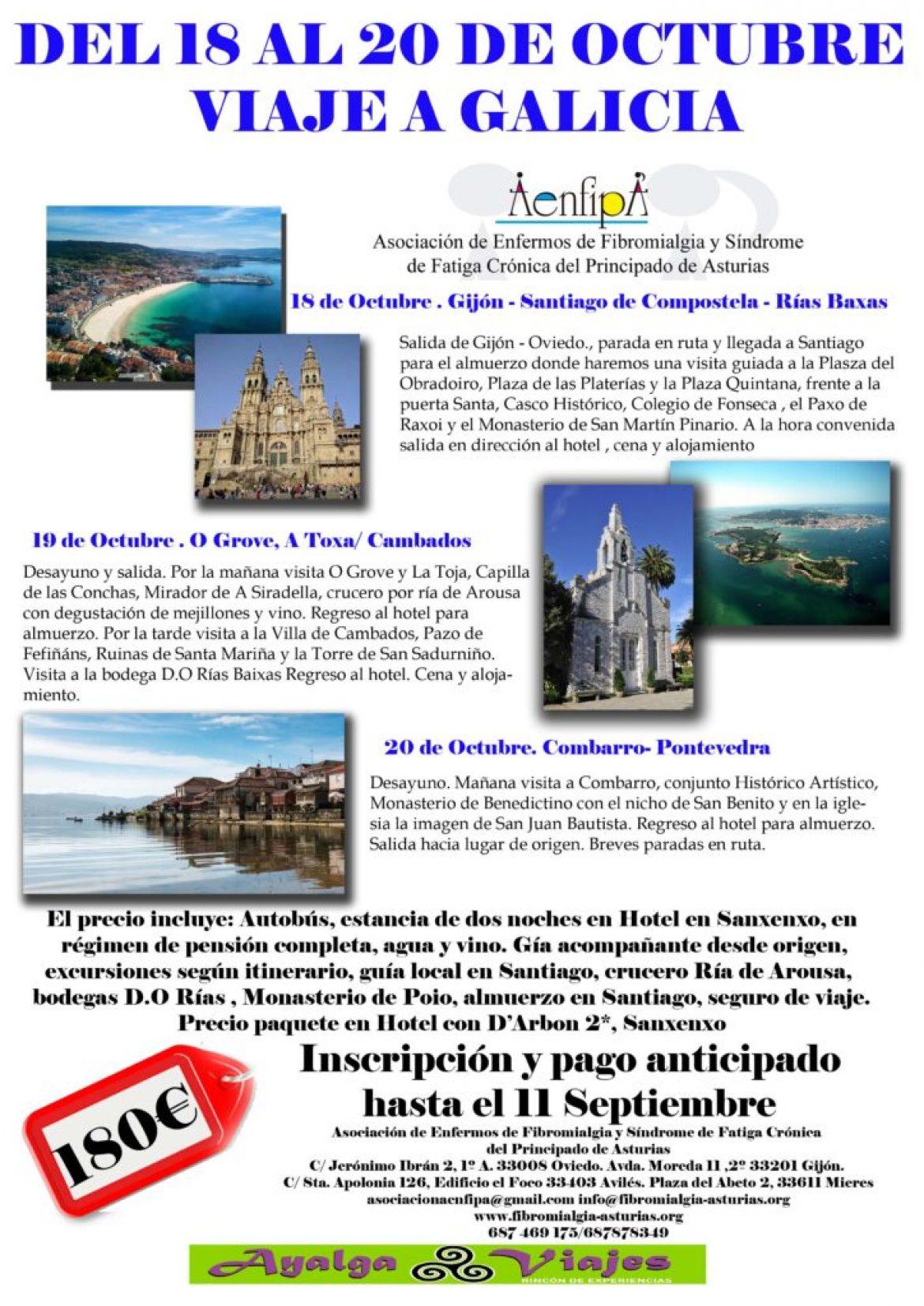 Viaje a Galicia 18, 19 y 20 de Octubre